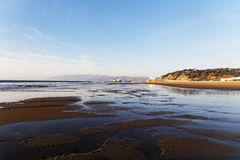 Sikt av havstranden i San Francisco Arkivfoton