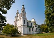Sikt av helgonet Sophia Cathedral i Polotsk, Vitryssland royaltyfri bild