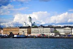 Sikt av Helsingfors från havet Royaltyfri Bild