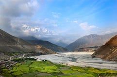 Sikt av Himalayas royaltyfria foton