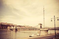 Sikt av historiskt arkitektoniskt i Budapest Arkivbild
