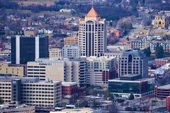 Sikt av hjärtan av i stadens centrum Roanoke royaltyfria foton