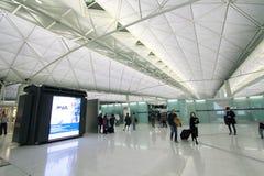 Sikt av Hong Kong den internationella flygplatsen Royaltyfri Bild