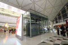 Sikt av Hong Kong den internationella flygplatsen Royaltyfria Foton