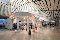 Sikt av Hong Kong den internationella flygplatsen Arkivbilder