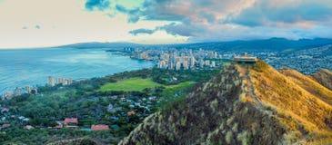 Sikt av Honolulu arkivfoton