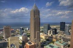Sikt av horisonten av Cleveland Fotografering för Bildbyråer