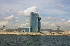 Sikt av hotellet W från sjösidan Royaltyfria Foton