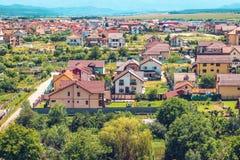 Sikt av hus i Selimbar Sibiu Royaltyfri Bild