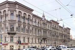 Sikt av huset av Kosikovsky på den Liteynyy utsikten St Petersburg Royaltyfri Fotografi