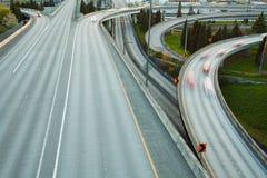 Sikt av huvudvägen i Seattle under dagtid, USA Royaltyfri Fotografi