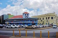 Sikt av i stadens centrum Bridgetown, den huvud och största staden i Barbados Royaltyfria Foton