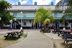 Sikt av i stadens centrum Bridgetown, den huvud och största staden i Barbados Fotografering för Bildbyråer