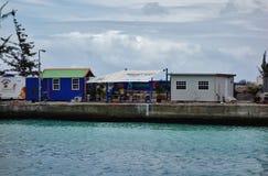 Sikt av i stadens centrum Bridgetown, den huvud och största staden i Barbados Royaltyfri Foto