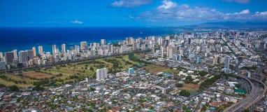 Sikt av i stadens centrum Honolulu Royaltyfri Foto
