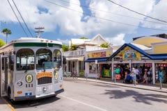 Sikt av i stadens centrum Key West, Florida Royaltyfria Foton