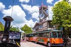 Sikt av i stadens centrum Key West, Florida Arkivfoto
