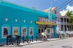 Sikt av i stadens centrum Key West, Florida Arkivbild