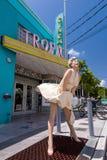 Sikt av i stadens centrum Key West, Florida Royaltyfri Foto