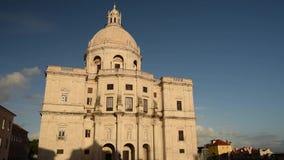 Sikt av i stadens centrum Lissabon stock video