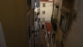 Sikt av i stadens centrum Lissabon arkivfilmer