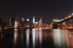 Sikt av i stadens centrum Manhattan efter den sandiga orkanen Arkivbilder