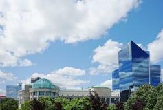 Sikt av i stadens centrum Raleigh NC arkivbild