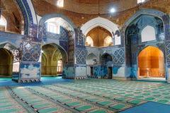 Sikt av inreblåttmoskén i Tabriz Östligt Azerbajdzjan landskap iran Royaltyfri Bild