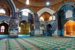 Sikt av inreblåttmoskén i Tabriz Östligt Azerbajdzjan landskap iran Arkivbild