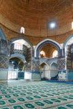 Sikt av inreblåttmoskén i Tabriz Östligt Azerbajdzjan landskap iran Royaltyfri Foto