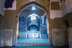 Sikt av inreblåttmoskén i Tabriz Östligt Azerbajdzjan landskap iran Fotografering för Bildbyråer