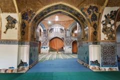 Sikt av inreblåttmoskén i Tabriz Östligt Azerbajdzjan landskap iran Royaltyfria Foton