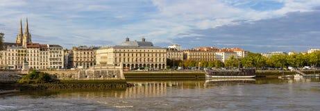 Sikt av invallningen i Bayonne - Frankrike arkivfoto