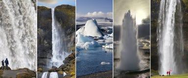 Sikt av Island Fotografering för Bildbyråer