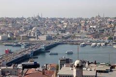 Sikt av Istanbul från det Galata tornet Royaltyfri Bild