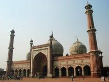 Sikt av Jama Masjid i Delhi Royaltyfria Foton
