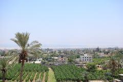 Sikt av Jericho i den Judean öknen Arkivfoton