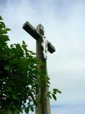 Sikt av Jesus Christ på korset Arkivfoto