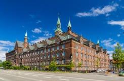 Sikt av Köpenhamnstadshuset, Danmark Royaltyfri Foto