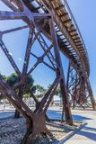 Sikt av kabeln Ingles i Almeria Spain arkivfoto