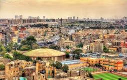 Sikt av Kairo från citadellen Arkivbild