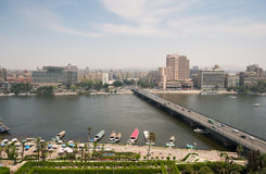 Sikt av Kairostaden, Egypten. Arkivbild