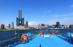 Sikt av Kaohsiung strand Arkivfoton