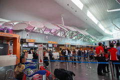sikt av KLIA2 flygplatsen Kuala Lumpur Royaltyfri Fotografi