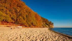 Sikt av klippan i Gdynia, Polen royaltyfri bild