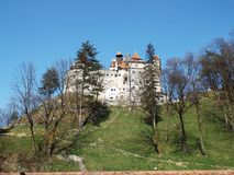 Sikt av klislotten, också som är bekant som slott för Dracula ` s Fotografering för Bildbyråer