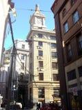 Sikt av klockan i Valparaiso, Chile royaltyfria bilder