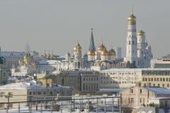 Sikt av klockatornet av Ivan det stort Fotografering för Bildbyråer
