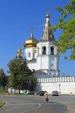 Sikt av kloster för helig Treenighet i Tyumen Royaltyfria Foton