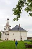 Sikt av kloster för St Nicholas Church Saint Euthymius i Suzdal Ryssland Royaltyfri Bild